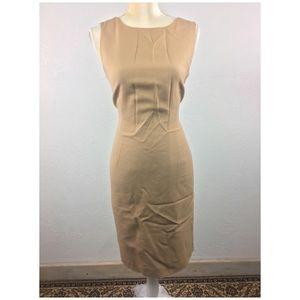 Talbots Wool Crepe Sheath Dress Sandal Brown 10